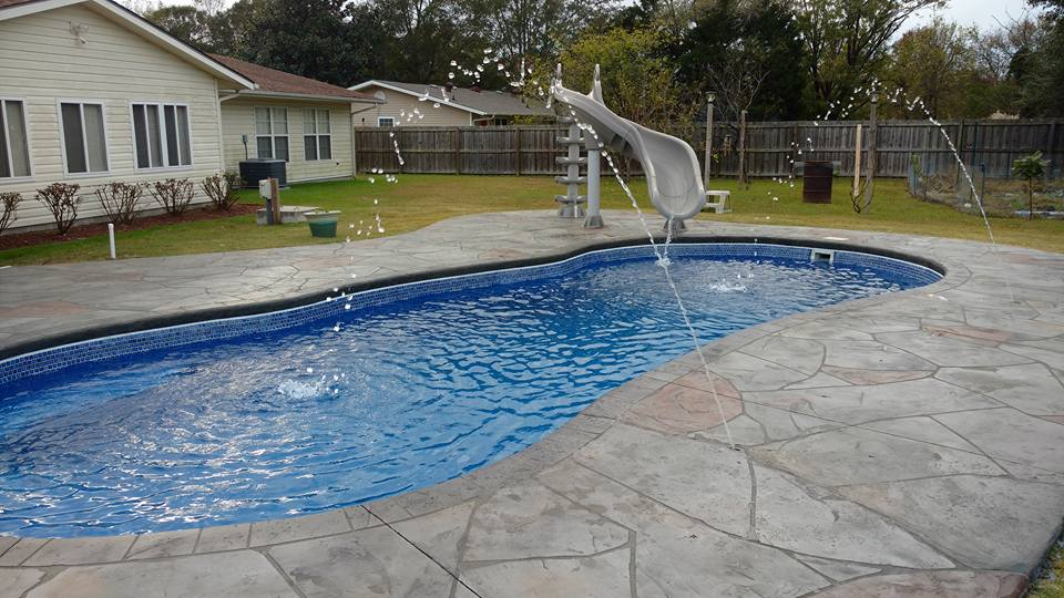 Decorative concrete jacksonville nc crystal coast pools for Hardwood floors jacksonville nc